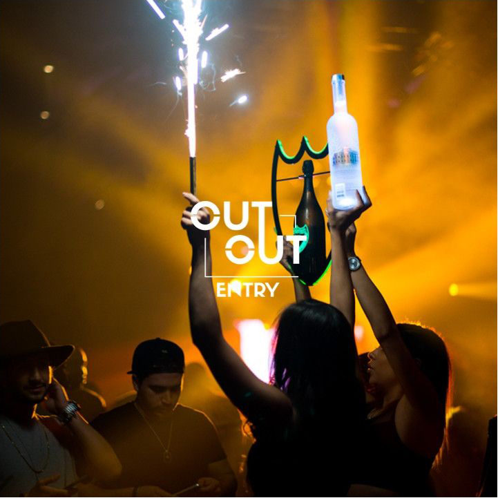 VIP Booth, Bottles of spirit, drinks club drinks